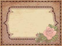 Carta d'annata dell'invito di nozze illustrazione di stock