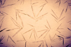 Carta d'annata di bambù del gelso con il fondo di struttura del fiore Fotografie Stock