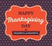 Carta d'annata di giorno di ringraziamento Fotografia Stock