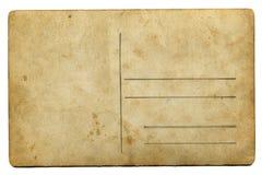 Carta d'annata di invecchiamento con spazio per testo isolato su bianco Fotografia Stock Libera da Diritti