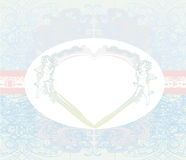 Carta d'annata di San Valentino felice con i cupidi Immagine Stock Libera da Diritti