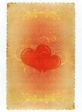 Carta d'annata floreale romantica Fotografia Stock