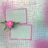 Carta d'annata per le congratulazioni e gli inviti con le rose Fotografia Stock Libera da Diritti