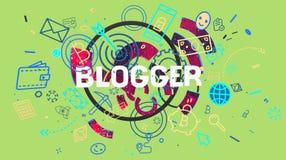 Carta d'avanguardia di blogger Fotografia Stock Libera da Diritti