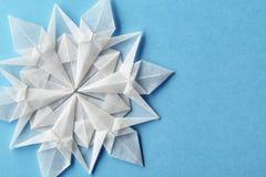 Carta 3d del fiocco di neve di Natale Fotografia Stock