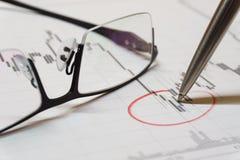 Carta da compra e venda de ações Imagem de Stock