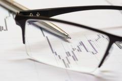 Carta da compra e venda de ações Imagens de Stock