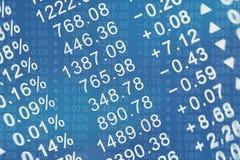 Carta da cotação das ações fotos de stock