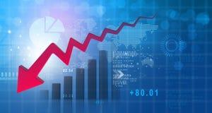 Carta da diminuição do negócio Imagem de Stock Royalty Free