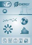 Carta da energia de Infographic Foto de Stock Royalty Free