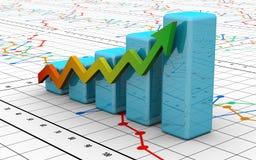 Carta da finança do negócio, diagrama, barra, gráfico Fotografia de Stock Royalty Free