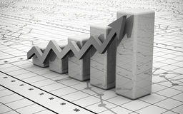 Carta da finança do negócio, diagrama, barra, gráfico Foto de Stock Royalty Free