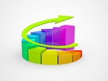 Carta da finança do negócio, diagrama, gráfico Imagens de Stock Royalty Free