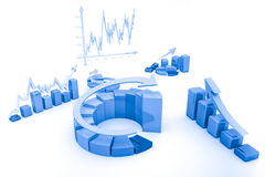 Carta da finança do negócio, diagrama, gráfico Fotografia de Stock Royalty Free