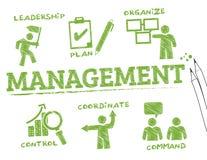 Carta da gestão Imagens de Stock