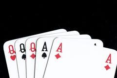 Carta da gioco, tutto esaurito Immagini Stock