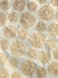 Carta da imballaggio bianca d'annata con le fette arancio Fotografia Stock Libera da Diritti
