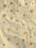 Carta da imballaggio bianca d'annata con le stelle Fotografia Stock Libera da Diritti