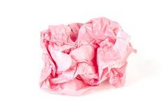 Carta da imballaggio Crumpled in una palla su bianco Immagine Stock