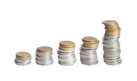 Carta da moeda Fotografia de Stock