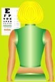 Carta da oftalmologia Ilustração Royalty Free