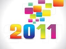 Carta da parati 2011 del colorfull dell'estratto Immagine Stock