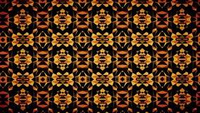 Carta da parati arancio astratta del modello di colore del nero scuro Fotografie Stock Libere da Diritti