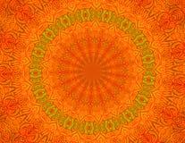 Carta da parati arancione della priorità bassa del batik Fotografie Stock Libere da Diritti