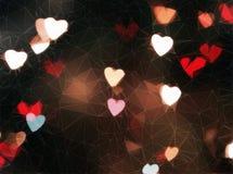 Carta da parati astratta del cioccolato del cuore Fotografia Stock