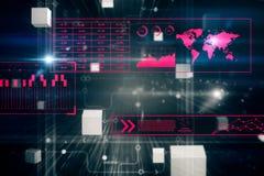 Carta da parati astratta del Cyberspace Immagine Stock Libera da Diritti