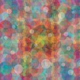 Carta da parati astratta del fondo dei cerchi colorati Fotografia Stock