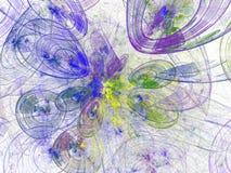 Carta da parati astratta serie di frattale Fondo di arte di frattale per progettazione creativa Decorazione per il desktop della  immagine stock