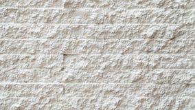 Carta da parati bianca, struttura e fondo del mattone Immagini Stock