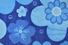 Carta da parati blu del fiore Fotografie Stock Libere da Diritti