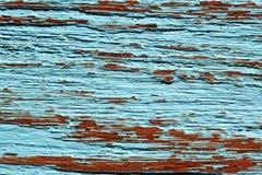 Carta da parati blu di struttura del fondo del vecchio tek di legno Immagine Stock