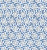 Carta da parati blu e bianca astratta del modello di colore Immagini Stock