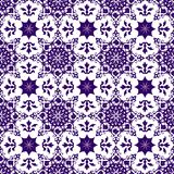 Carta da parati blu trasparente cinese araba d'annata senza cuciture floreale astratta orientale ornamentale di struttura del mod royalty illustrazione gratis