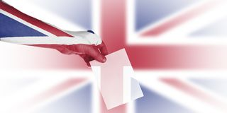 Carta da parati britannica di elezioni locali Immagine Stock Libera da Diritti