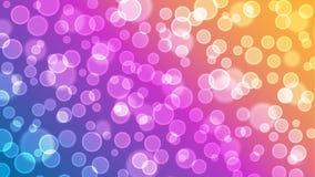 Carta da parati Colourful del fondo delle luci di Bokeh e delle bolle fotografia stock libera da diritti