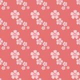 Carta da parati d'annata del fiore di schizzo senza cuciture rosa disegnato a mano del modello con la decorazione dell'ornamento  Fotografia Stock