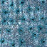 Carta da parati d'annata - stelle - azzurro Fotografia Stock