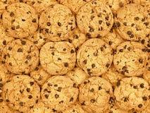 Carta da parati dei biscotti di pepita di cioccolato Immagine Stock Libera da Diritti