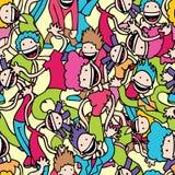Carta da parati dei danzatori illustrazione di stock
