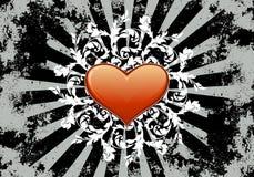 Carta da parati del biglietto di S. Valentino del cuore illustrazione di stock
