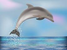 Carta da parati del delfino, vettore Fotografie Stock Libere da Diritti