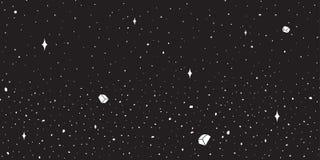 Carta da parati del fondo del cielo notturno del pianeta della stella dello spazio cosmico di vettore illustrazione vettoriale