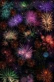 Carta da parati del fondo di saluto dei fuochi d'artificio Immagini Stock Libere da Diritti