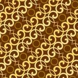 Carta da parati del modello del batik di Brown Immagine Stock