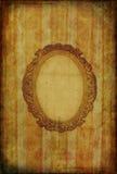 Carta da parati dell'annata con il blocco per grafici ovale Fotografie Stock Libere da Diritti