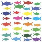 Carta da parati dell'icona del pesce Immagine Stock
